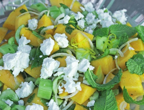 Melon and Cucumber Salad with Mint