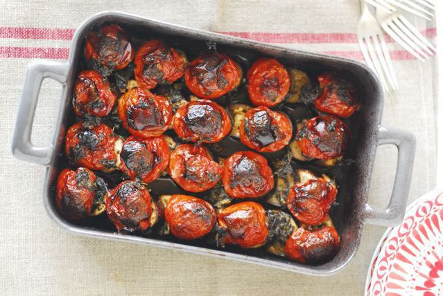 rustic-tomato-eggplant-bake
