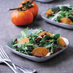 pomegranate-persimmon-salad
