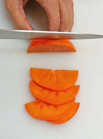 Slicing persimmon