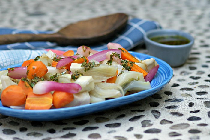 steamed-fennel-carrots-radishes-passover-salsa-verde