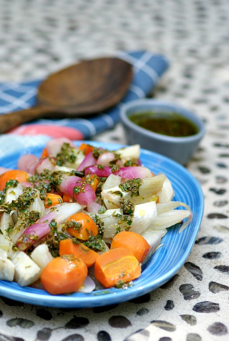 steamed-fennel-carrots-radishes-passover-herb-salsa-verde