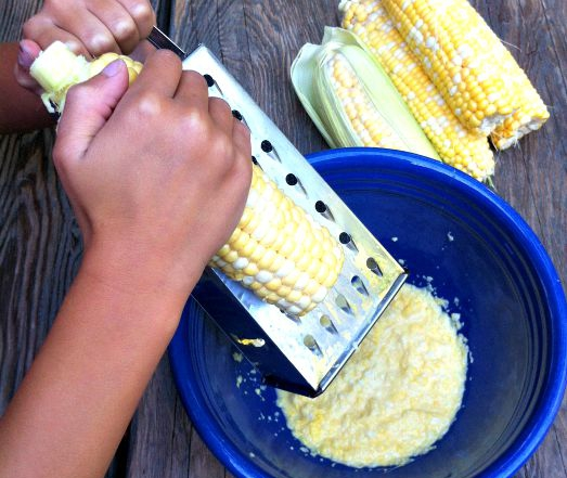 How to Grate Corn-vertical