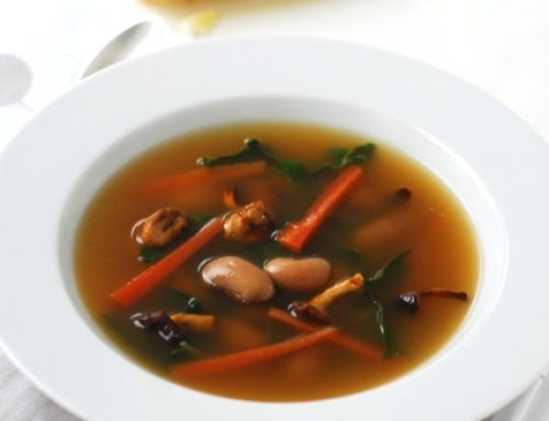 Borlotti Bean and Swiss Chard Soup
